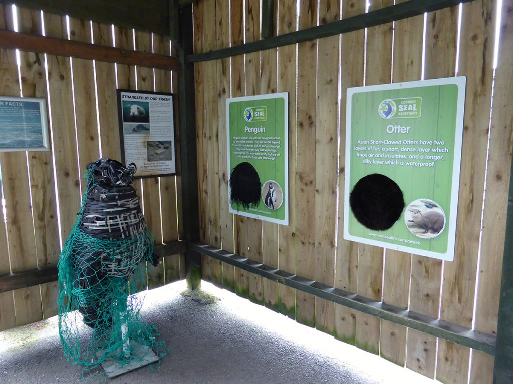 Informational display at Cornish Seal Sanctuary
