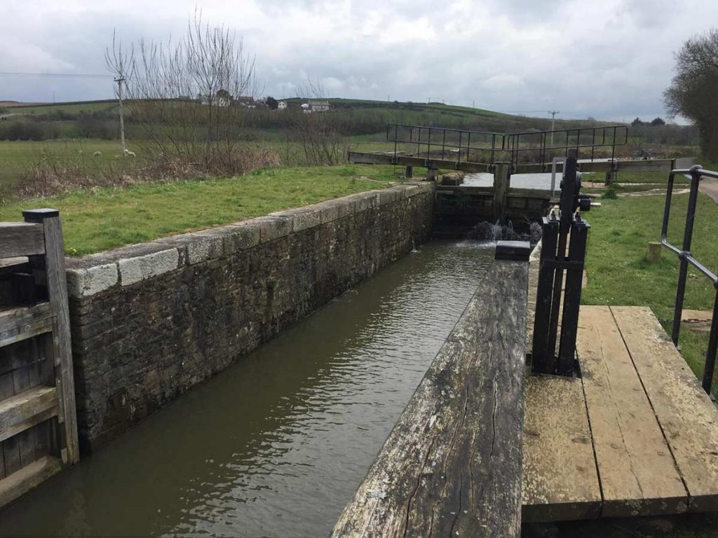 Lock gate of the Bude Canal