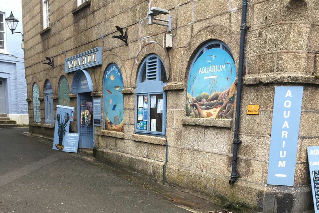 Outside Fowey Aquarium, South Cornwall