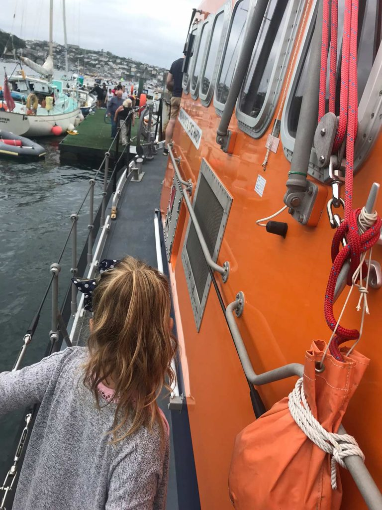 Checking out the lifeboat
