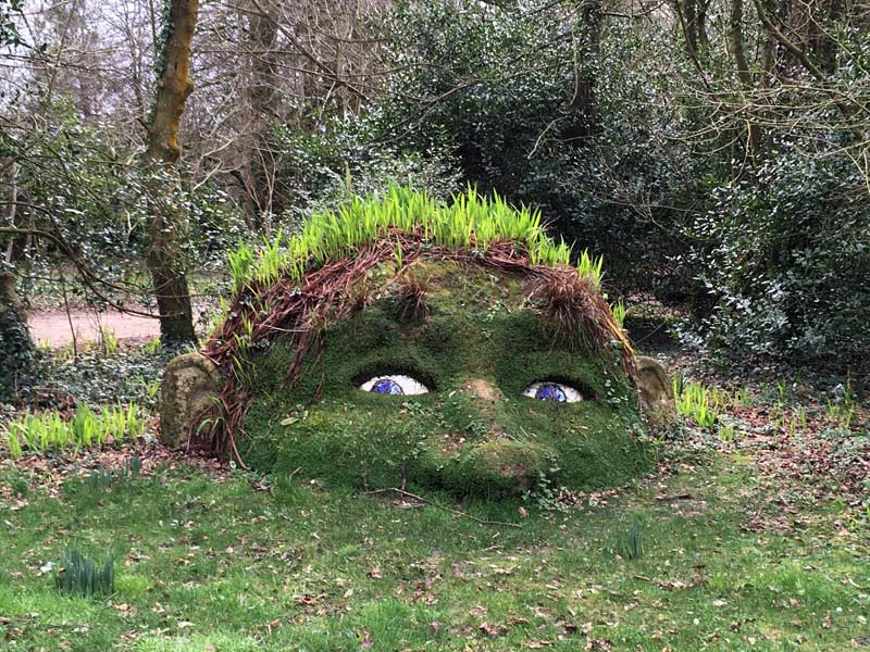 The Giant's Head at the Lost Gardens of Heligan